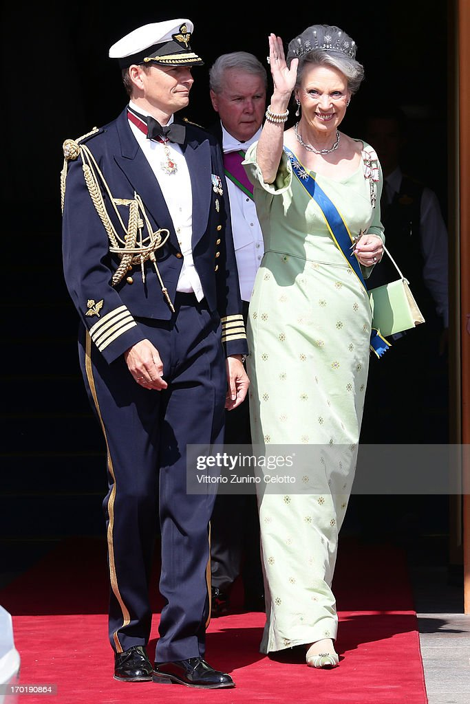 Princess Benedikte of Denmark (R) attends the wedding of Princess Madeleine of Sweden and Christopher O'Neill hosted by King Carl Gustaf XIV and Queen Silvia at The Royal Palace on June 8, 2013 in Stockholm, Sweden.
