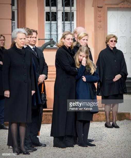 Princess Benedikte of Denmark Count Richard guest Princess Alexandra zu SaynWittgensteinBerleburg Princess Nathalie zu SaynWittgensteinBerleburg and...