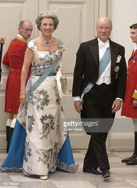 Princess Benedikte Of Denmark Husband Prince Richard Berleburg Attend A Gala Dinner At Christiansborg Palace