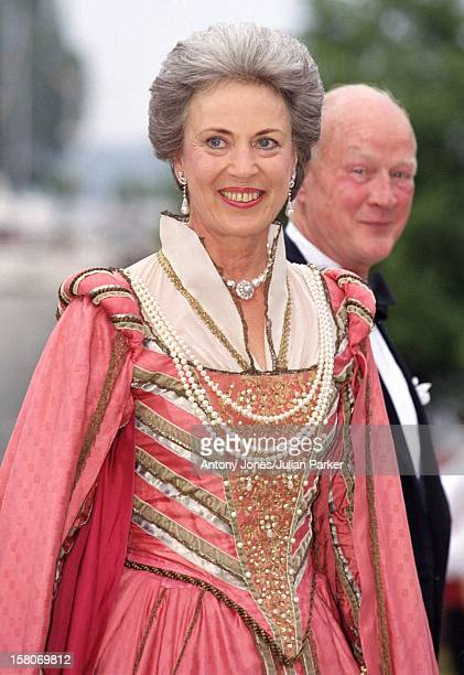 Princess Benedikte Of Denmark Prince Richard Berleburg Attend A Performance At Gripsholm Castle During The Celebrations For King Carl Gustav Queen...