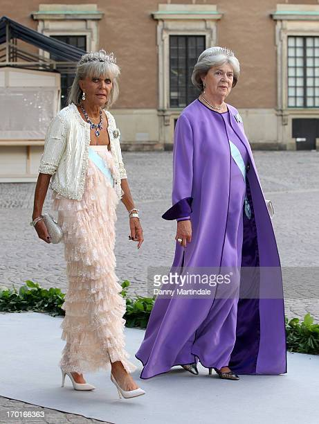 Princess Birgitta of Sweden and Princess Margaretha Mrs Ambler attend the wedding of Princess Madeleine of Sweden and Christopher O'Neill hosted by...