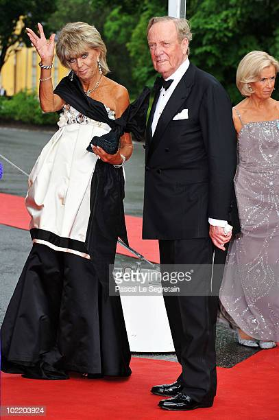 Princess Brigitta from Sweden and Prince Johann Georg of Hohenzollern attend the Government PreWedding Dinner for Crown Princess Victoria of Sweden...