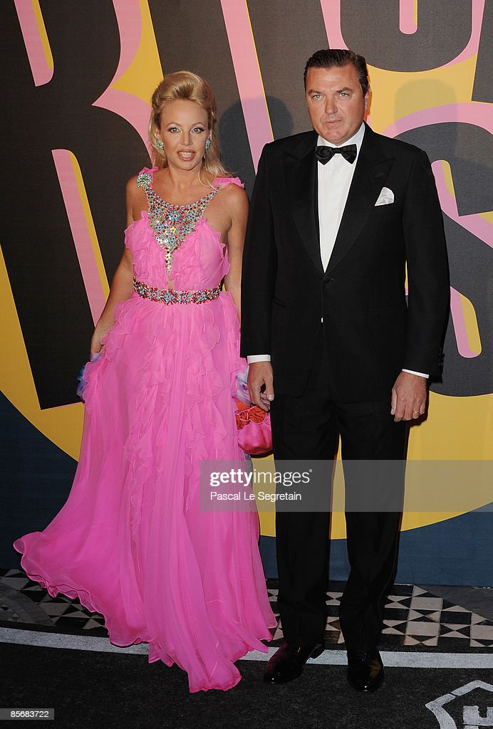 Princess Camilla de Bourbon des Deux-Siciles and a guest arrive at the 2009 Monte Carlo Rock' N Rose Ball held at The Sporting Monte Carlo on March 28, 2009 in Monte Carlo, Monaco.