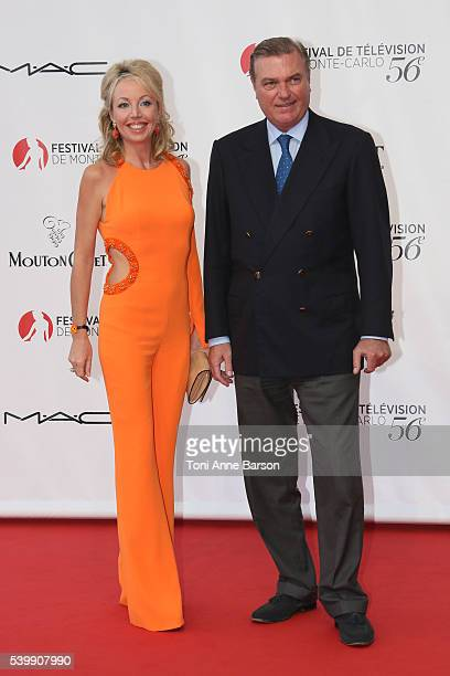 Princess Camilla of BourbonTwo Sicilies and Charles of BourbonTwo Sicilies arrive at the 56th Monte Carlo TV Festival Opening Ceremony at the...