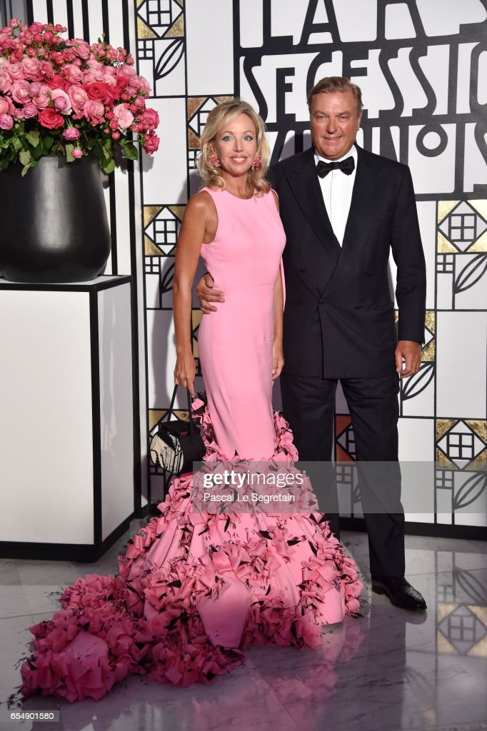 Princess Camilla of Bourbon-two Sicilies and Prince Charles of Bourbon-two Sicilies attend the Rose Ball 2017 To Benefit The Princess Grace Foundation at Sporting Monte-Carlo on March 18, 2017 in Monte-Carlo, Monaco.
