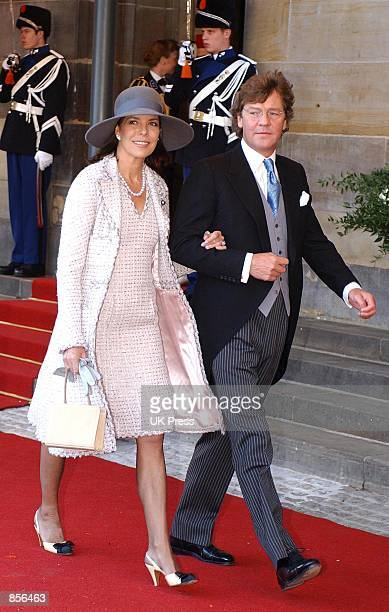 Princess Caroline and Ernst Hanover arrive for the wedding of Dutch Crown Prince Willem Alexander and Crown Princess Maxima Zorreguieta February 2...