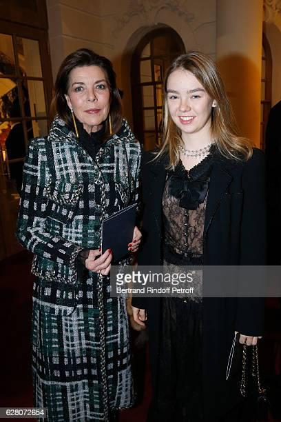 Princess Caroline de Hanovre and her daughter Princess Alexandra de Hanovre attend the 'Chanel Collection des Metiers d'Art 2016/17 Paris...