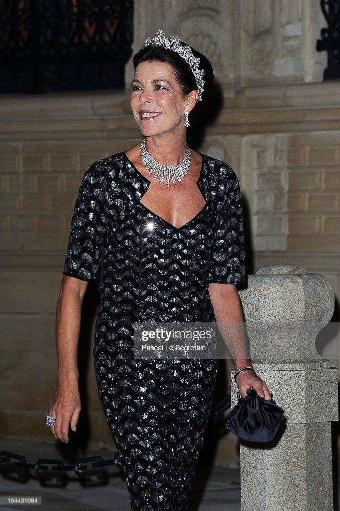 Princess Caroline of Hannover attends the Gala dinner for the wedding of Prince Guillaume Of Luxembourg and Stephanie de Lannoy at the Grand-ducal Palace on October 19, 2012 in Luxembourg, Luxembourg. The 30-year-old hereditary Grand Duke of Luxembourg is the last hereditary Prince in Europe to get married, marrying his 28-year old Belgian Countess bride in a lavish 2-day ceremony.