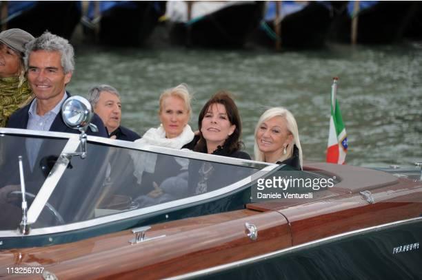 Princess Caroline of Hanover and Annalicia Balzan attend the Le Ballets de MonteCarlo 'Cendrillion' Gala Evening Bottega Veneta at Teatro Fenice on...
