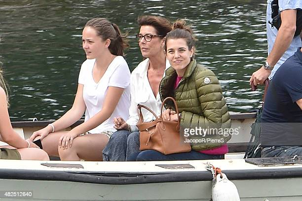 LY 31 Princess Caroline of Hanover and Charlotte Casiraghi are seen on July 31 2015 in UNSPECIFIED Italy