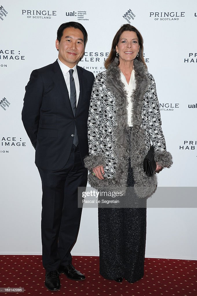 Princess Caroline of Hanover and Douglas Fang attend the Pringle Of Scotland Archive Collection Presentation as part of Paris Fashion Week at Salon France-Ameriques on March 5, 2013 in Paris, France.