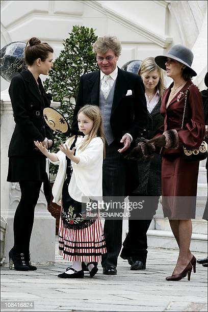 Princess Caroline of Hanover and Ernst August of Hanover Princess Alexandra of Hanover Charlotte Casiraghi in Monte Carlo Monaco on November 19th2007