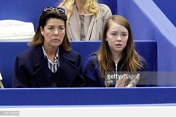 Princess Caroline of Hanover and her daughter Alexandra attend the World Figure Skating Championships on March 27 2012 in Nice southeastern France...