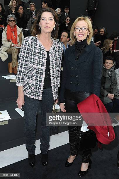 Princess Caroline of Hanover and Micheline Chaban attend the Chanel Fall/Winter 2013 ReadytoWear show as part of Paris Fashion Week at Grand Palais...
