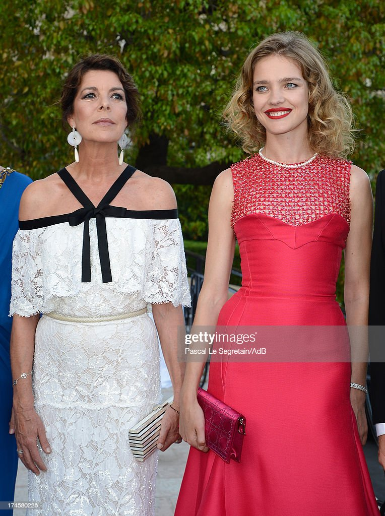 Princess Caroline of Hanover and Natalia Vodianova attend the cocktail at the 'Love Ball' hosted by Natalia Vodianova in support of The Naked Heart Foundation at Opera Garnier on July 27, 2013 in Monaco, Monaco.