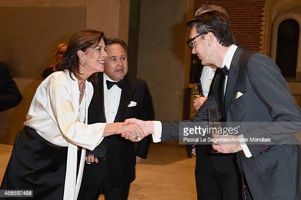 Princess Caroline of Hanover and Paul Van Riessen attend the Amsterdam AMADE Gala launch at the Rijksmuseum on November 7 2014 in Amsterdam...