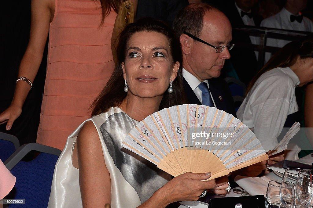 Princess Caroline of Hanover and Prince Albert II of Monaco attend the Fight Aids Charity Gala In Monte-Carlo on July 10, 2015 in Monaco, Monaco.