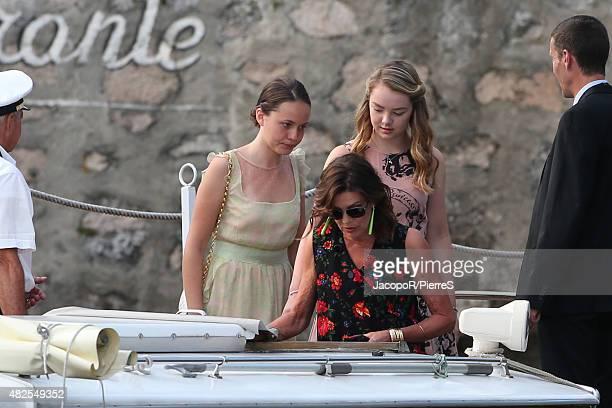 Princess Caroline of Hanover and Princess Alexandra of Hanover are seen on July 31 2015 in Verbania Italy