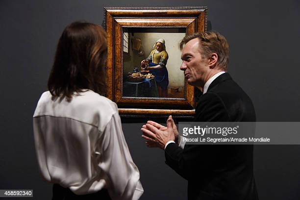 Princess Caroline of Hanover and Rijksmuseum General Director Wim Pijbes attend the Amsterdam AMADE Gala launch at the Rijksmuseum on November 7 2014...