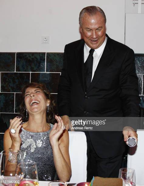 Princess Caroline of Hanover and Robert Wilson attend the 'Voluptuous Panic' Robert Wilson's 70th birthday dinner at Studio Elmgreen Dragset on...
