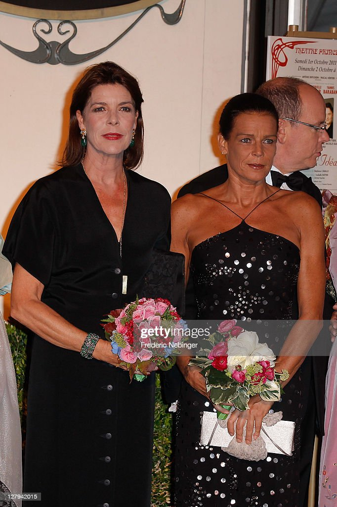 Princess Caroline of Hanover and SAS <a gi-track='captionPersonalityLinkClicked' href=/galleries/search?phrase=Princess+Stephanie+of+Monaco&family=editorial&specificpeople=171100 ng-click='$event.stopPropagation()'>Princess Stephanie of Monaco</a> attend the Theatre Princesse Grace 30th Anniversary Celebration at Theatre Princesse Grace on October 3, 2011 in Monaco, Monaco.