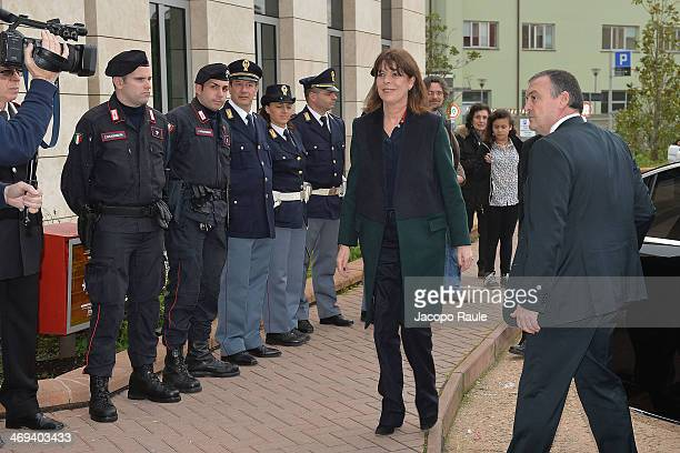 Princess Caroline Of Hanover arrives at Hospital Gaslini on February 14 2014 in Genoa Italy