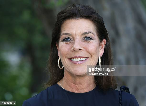 Princess Caroline of Hanover arrives for a visit of the 'Gilbert and George' exhibition held at the 'New National Museum' in Monaco on June 12 2014...