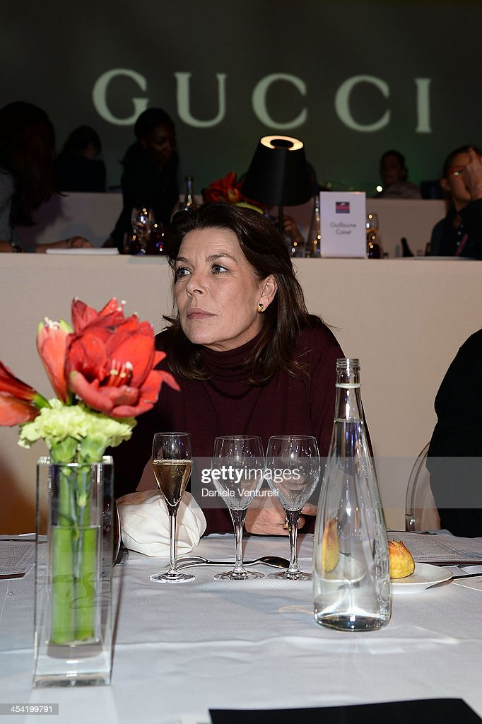 Princess Caroline of Hanover attends day 3 of the Gucci Paris Masters 2013 at Paris Nord Villepinte on December 7, 2013 in Paris, France.