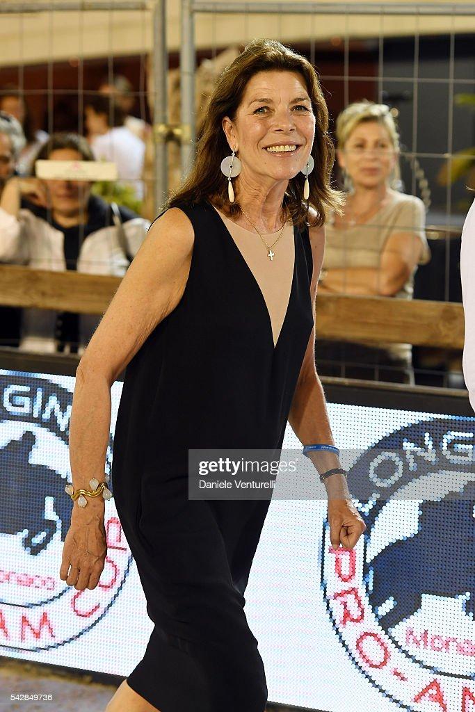 Princess Caroline of Hanover attends Longines Global Champions Tour of Monaco on June 24, 2016 in Monaco, Monaco.