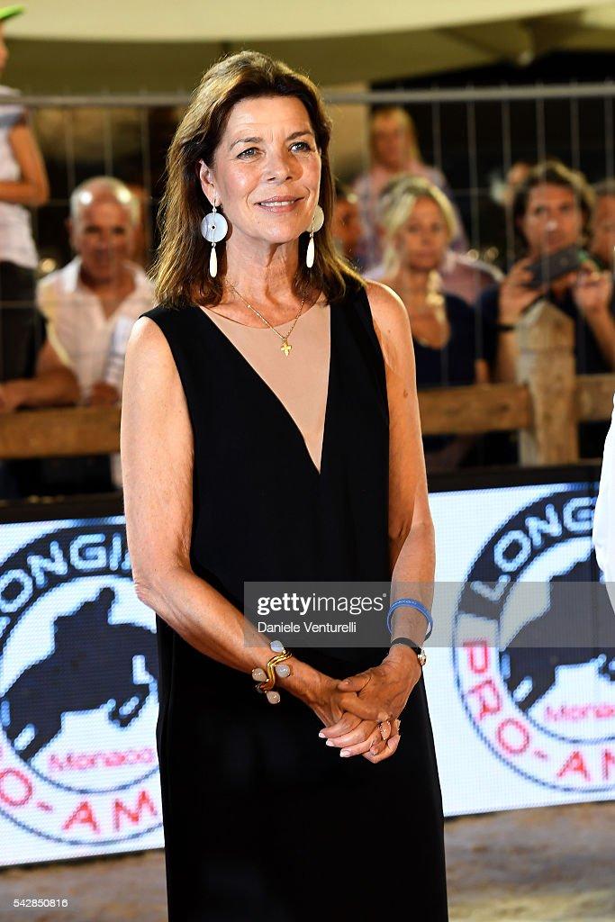 Princess Caroline of Hanover attends Longines Global Champions Tour of Monaco on June 24 2016 in Monaco Monaco