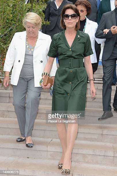 Princess Caroline of Hanover attends the 45th International 'Concours de Bouquets' Opening on May 5 2012 in Monaco Monaco