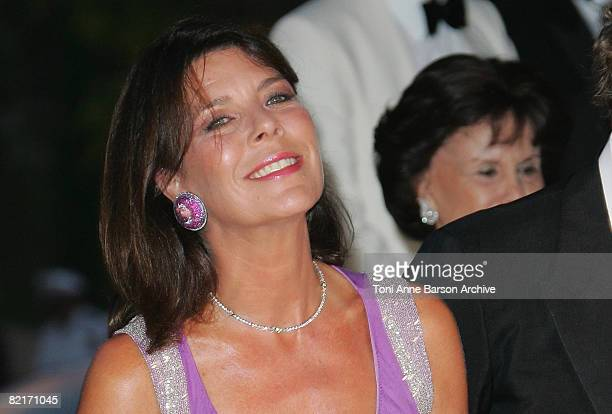 Princess Caroline of Hanover attends the 60th Monaco Red Cross Ball at the MonteCarlo Sporting Club on August 1 2008 in Monte Carlo Monaco