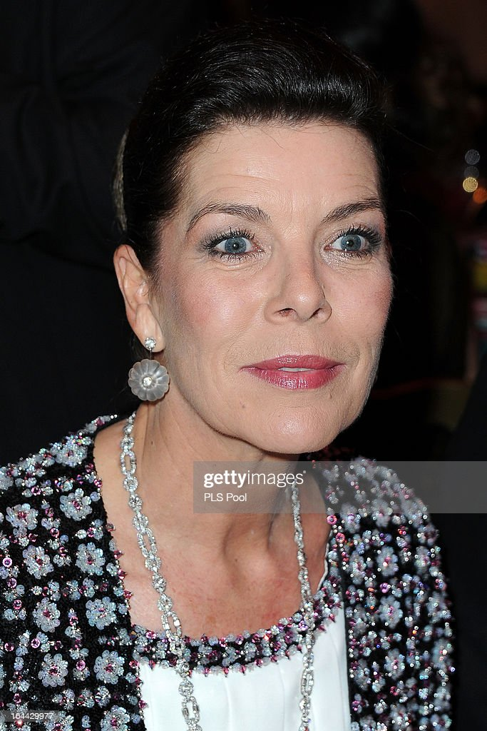 Princess Caroline of Hanover attends the 'Bal De La Rose Du Rocher' in aid of the Fondation Princess Grace on the 150th Anniversary of the SBM at Sporting Monte-Carlo on March 23, 2013 in Monte-Carlo, Monaco.