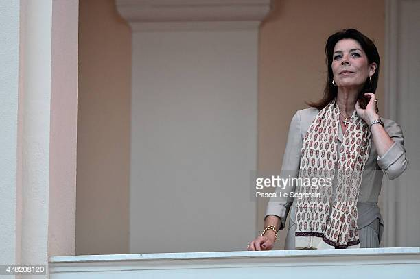 Princess Caroline of Hanover attends the 'Fete de la St Jean' procession on June 24 2015 in Monaco Monaco