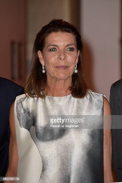 Princess Caroline of Hanover attends the Fight Aids Charity Gala In MonteCarlo on July 10 2015 in Monaco Monaco