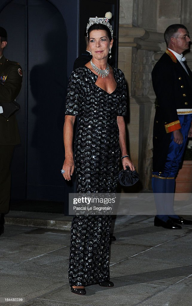 Princess Caroline of Hanover attends the Gala dinner for the wedding of Prince Guillaume Of Luxembourg and Stephanie de Lannoy at the Grand-ducal Palace on October 19, 2012 in Luxembourg, Luxembourg. The 30-year-old hereditary Grand Duke of Luxembourg is the last hereditary Prince in Europe to get married, marrying his 28-year old Belgian Countess bride in a lavish 2-day ceremony.