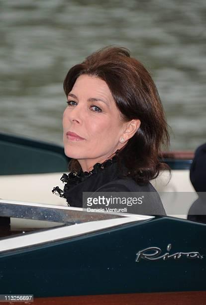 Princess Caroline of Hanover attends the Le Ballets de MonteCarlo 'Cendrillion' Gala Evening Bottega Veneta at Teatro Fenice on April 28 2011 in...