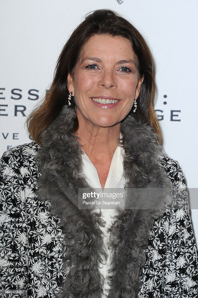 Princess Caroline of Hanover attends the Pringle Of Scotland Archive Collection Presentation as part of Paris Fashion Week at Salon France-Ameriques on March 5, 2013 in Paris, France.