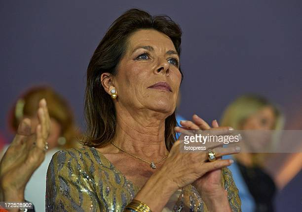 Princess Caroline of Hanover attends the Riviera Grand Prix du Prince as part of the Longines Global Champions Tour Of Monaco 2013 on June 29 2013 in...