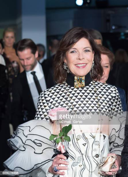 Princess Caroline of Hanover attends the Rose Ball 2017 Secession Viennoise To Benefit The Princess Grace Foundation at Sporting MonteCarlo on March...
