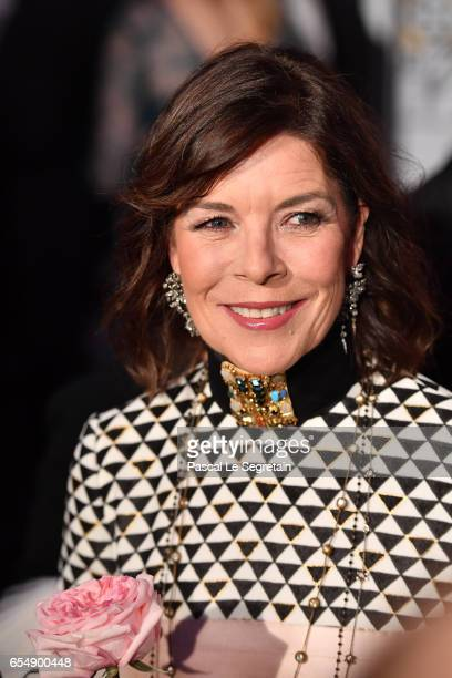 Princess Caroline of Hanover attends the Rose Ball 2017 To Benefit The Princess Grace Foundation at Sporting MonteCarlo on March 18 2017 in...