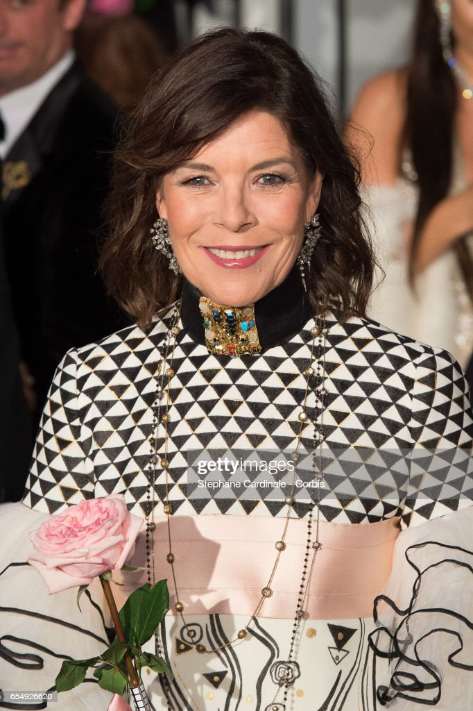 Princess Caroline of Hanover attends the Rose Ball 2017 To Benefit The Princess Grace Foundation at Sporting Monte-Carlo on March 18, 2017 in Monte-Carlo, Monaco.