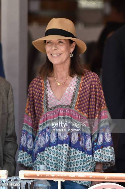 Princess Caroline of Hanover attends the special invitational competition of the Longines Global Champions Tour of Monaco on June 25 2015 in Monaco...