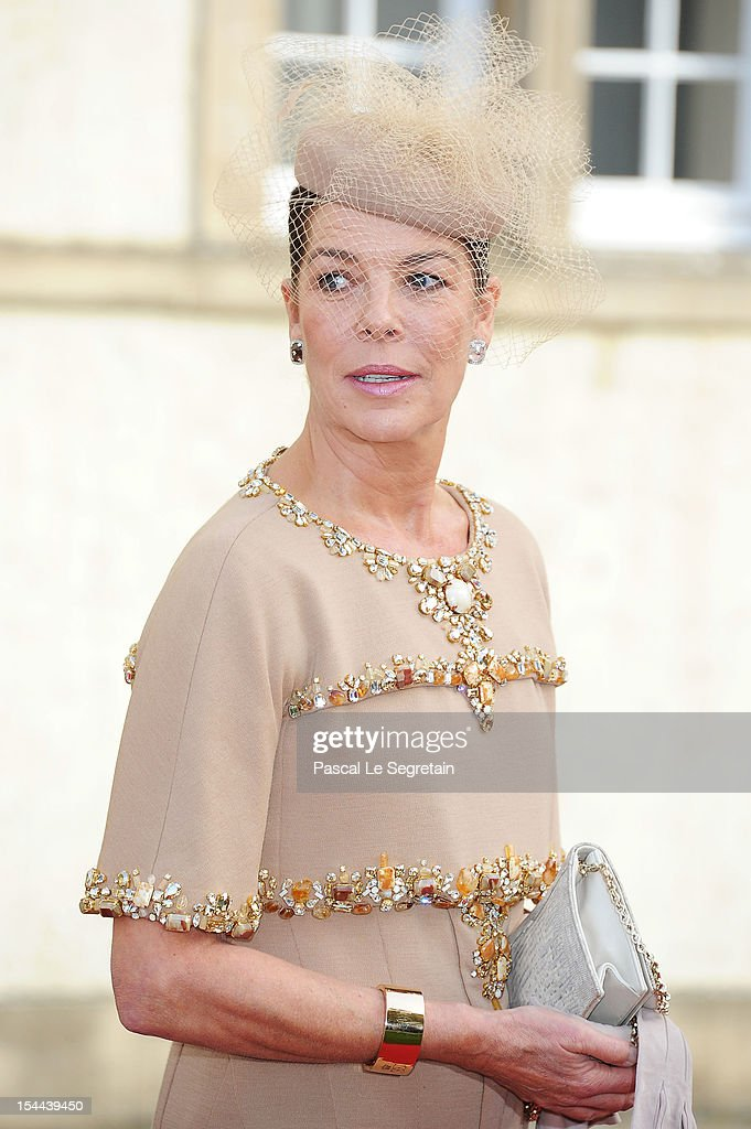 Princess Caroline of Hanover attends the wedding ceremony of Prince Guillaume Of Luxembourg and Princess Stephanie of Luxembourg at the Cathedral of our Lady of Luxembourg on October 20, 2012 in Luxembourg, Luxembourg. The 30-year-old hereditary Grand Duke of Luxembourg is the last hereditary Prince in Europe to get married, marrying his 28-year old Belgian Countess bride in a lavish 2-day ceremony.