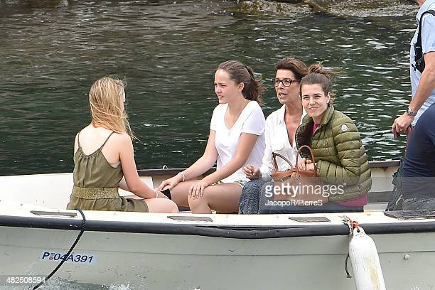 Princess Caroline of Hanover Charlotte Casiraghi and Princess Alexandra of Hanover are seen on July 31 2015 in UNSPECIFIED Italy
