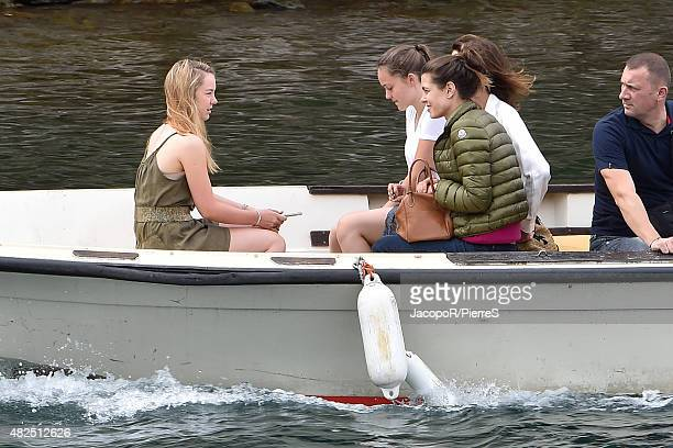 LY 31 Princess Caroline of Hanover Charlotte Casiraghi and Princess Alexandra of Hanover are seen on July 31 2015 in UNSPECIFIED Italy
