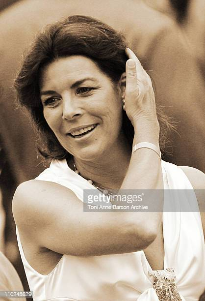 Princess Caroline of Hanover during HSH Prince Albert II's Accession to the Throne of Monaco Presentation of the Keys of Monaco at Cathedral in...