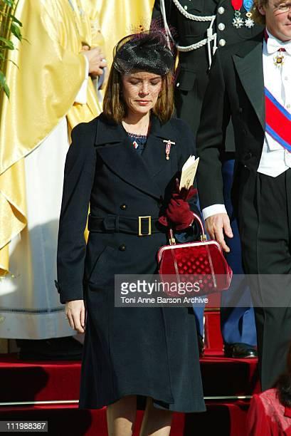 HSH Princess Caroline of Hanover during Monaco National Day 2002 Cathedral at Monaco Cathedral in Monaco Monaco