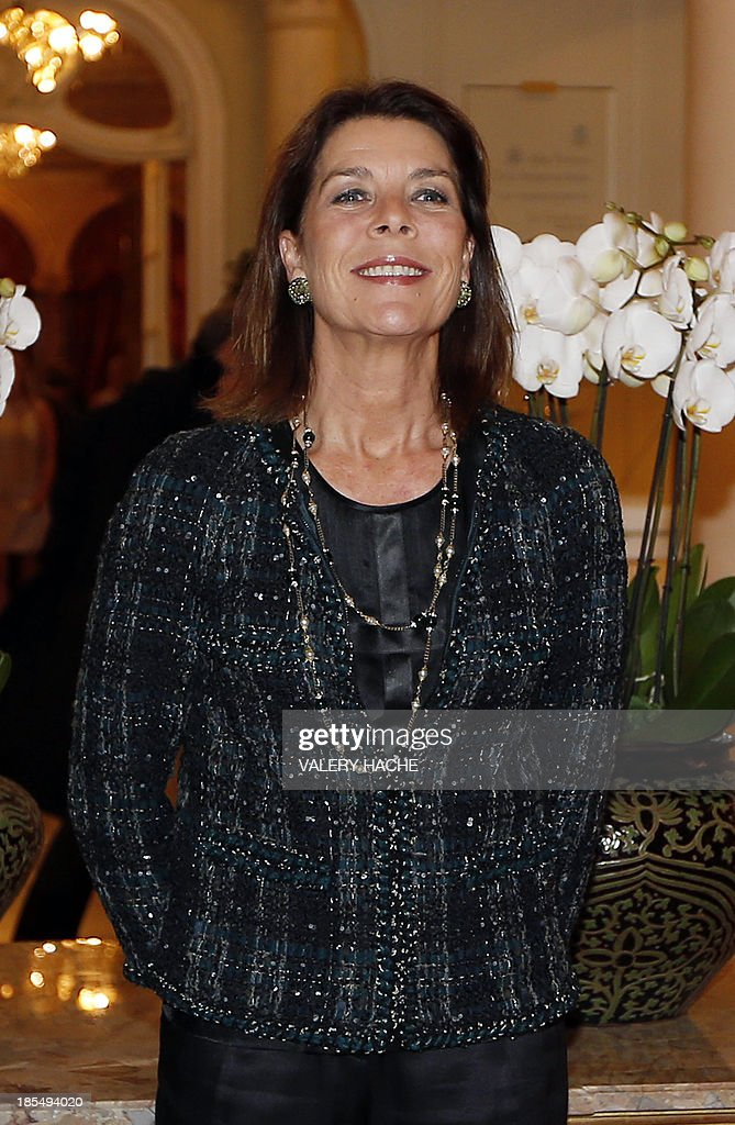 Princess Caroline of Hanover (C) during the conference 'La Russie à lheure Vladimir Poutine' (Russia at Vladimir Putin's Time), on October 21, 2013 in Monaco.