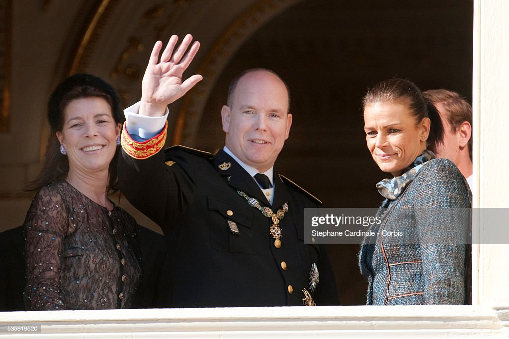 Princess Caroline of Hanover, HRH Prince Albert II of Monaco and Princess Stephanie of Monaco attend the National Day celebrations 2010 in Monaco.